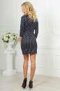 Повседневное платье футляр синего в горох цвета 2218-2.45d5 No3|интернет-магазин vvlen.com