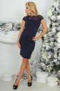 Коктейльное платье футляр темно-синего цвета 2452.47 No1|интернет-магазин vvlen.com