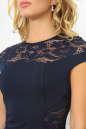 Коктейльное платье футляр темно-синего цвета 2452.47 No2|интернет-магазин vvlen.com