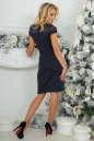 Коктейльное платье футляр темно-синего цвета 2452.47 No4|интернет-магазин vvlen.com