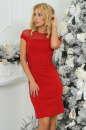 Коктейльное платье футляр красного цвета 2452.47|интернет-магазин vvlen.com