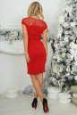 Коктейльное платье футляр красного цвета No4|интернет-магазин vvlen.com