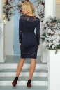 Коктейльное платье футляр темно-синего цвета 2443.47 No4|интернет-магазин vvlen.com