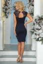 Коктейльное платье футляр темно-синего цвета 2203.47 No4|интернет-магазин vvlen.com