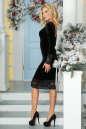 Коктейльное платье футляр черного цвета No2|интернет-магазин vvlen.com