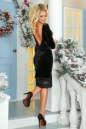 Коктейльное платье футляр черного цвета No4|интернет-магазин vvlen.com