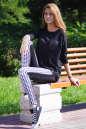 Женские лосины черного цвета 2204.45 No1|интернет-магазин vvlen.com