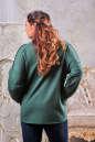 Худи оверсайз зеленого цвета  2405-2.79 No3|интернет-магазин vvlen.com