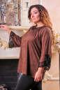Туника оверсайз коричневого цвета 2449.86 No1|интернет-магазин vvlen.com