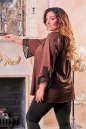 Туника оверсайз коричневого цвета 2449.86 No2|интернет-магазин vvlen.com