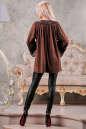 Туника оверсайз коричневого цвета 2449.86 No5|интернет-магазин vvlen.com