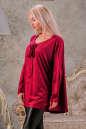 Туника оверсайз бордового цвета 2450.86 No3|интернет-магазин vvlen.com
