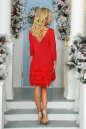 Коктейльное платье футляр красного цвета 2466.47 No3|интернет-магазин vvlen.com