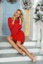 Коктейльное платье футляр красного цвета 2466.47 No4|интернет-магазин vvlen.com