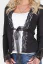 Блуза черного цвета No1|интернет-магазин vvlen.com