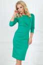Офисное платье футляр зеленого цвета 1409-1.47 No0|интернет-магазин vvlen.com
