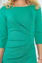 Офисное платье футляр зеленого цвета 1409-1.47 No4|интернет-магазин vvlen.com