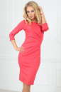 Офисное платье футляр розового цвета 1409-1.47|интернет-магазин vvlen.com