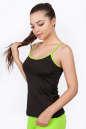 Майка для фитнеса черного с зеленым цвета No0|интернет-магазин vvlen.com