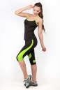 Майка для фитнеса черного с зеленым цвета No4|интернет-магазин vvlen.com