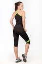 Майка для фитнеса черного с зеленым цвета No5|интернет-магазин vvlen.com
