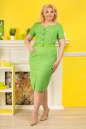 Платье футляр зеленого цвета  No1|интернет-магазин vvlen.com