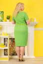 Платье футляр зеленого цвета  No3|интернет-магазин vvlen.com