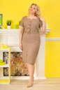 Летнее платье футляр капучино цвета No0|интернет-магазин vvlen.com