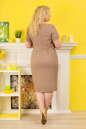 Летнее платье футляр капучино цвета 2332.81 No3 интернет-магазин vvlen.com