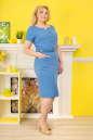 Летнее платье футляр голубого с белым цвета 2332.81 No2 интернет-магазин vvlen.com
