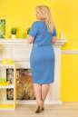 Летнее платье футляр голубого с белым цвета 2332.81 No3 интернет-магазин vvlen.com