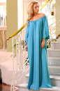 Платье оверсайз бирюзового цвета No1|интернет-магазин vvlen.com
