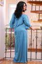 Платье оверсайз бирюзового цвета No6|интернет-магазин vvlen.com