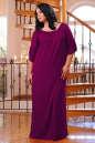 Платье оверсайз бордового цвета 2423.86 No3 интернет-магазин vvlen.com