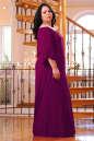 Платье оверсайз бордового цвета 2423.86 No4 интернет-магазин vvlen.com