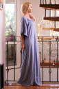Платье оверсайз серо-голубого цвета 2423.86 No3|интернет-магазин vvlen.com