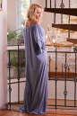 Платье оверсайз серо-голубого цвета 2423.86 No5|интернет-магазин vvlen.com