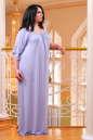 Платье оверсайз серо-голубого цвета 2423.86 No6|интернет-магазин vvlen.com