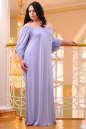 Платье оверсайз серо-голубого цвета 2423.86 No8|интернет-магазин vvlen.com