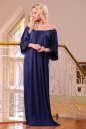Платье оверсайз темно-синего цвета 2423.86 No1|интернет-магазин vvlen.com