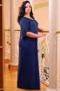Платье оверсайз темно-синего цвета 2423.86 No4|интернет-магазин vvlen.com