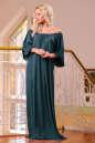 Платье оверсайз темно-зеленого цвета 2423.86 No1 интернет-магазин vvlen.com