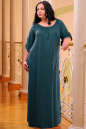 Платье оверсайз темно-зеленого цвета 2423.86 No3 интернет-магазин vvlen.com