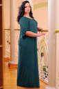 Платье оверсайз темно-зеленого цвета 2423.86 No4 интернет-магазин vvlen.com