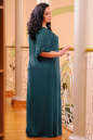 Платье оверсайз темно-зеленого цвета 2423.86 No5 интернет-магазин vvlen.com
