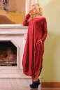 Платье оверсайз бордового цвета 2424 .86 No1|интернет-магазин vvlen.com