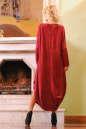 Платье оверсайз бордового цвета 2424 .86 No2|интернет-магазин vvlen.com