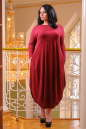 Платье оверсайз бордового цвета 2424 .86 No3|интернет-магазин vvlen.com