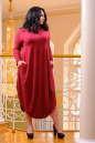 Платье оверсайз бордового цвета 2424 .86 No5|интернет-магазин vvlen.com