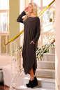 Платье оверсайз коричневого цвета No1|интернет-магазин vvlen.com